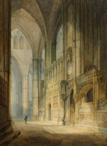 St Erasmus in Bishop Islip's Chapel, Westminster Abbey exhibited 1796 by Joseph Mallord William Turner 1775-1851